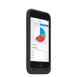 Mophie Space Pack 32 GB - etui z baterią 3300 mAh i wbudowaną pamięcią do iPhone 6/6s plus (czarna)