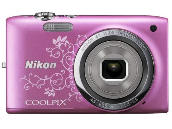 Aparat cyfrowy Nikon Coolpix S2700 różowy z wzorem