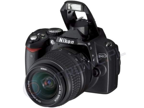 Lustrzanka Nikon D40 + ob. 18-55