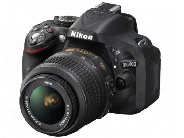 Lustrzanka Nikon D5200 czarny + ob.18-55 VR