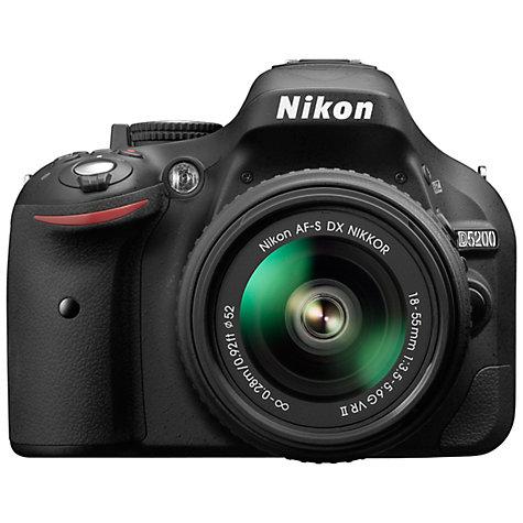 Lustrzanka Nikon D5200 czarny + ob. 18-55 VR II
