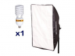 Powerlux RC-461 z softboxem 40x60 cm + 1x85 W 3000K