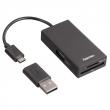 Hama HUB USB 2.0 OTG + Czytnik kart