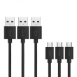 Aukey Zestaw kabli CB-D17 Quick Charge micro USB (6-pack)