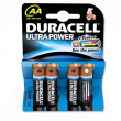 Duracell MX1500B4 Ultra Power 4xAA