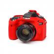 EasyCover osłona gumowa dla Canon 80D czerwona