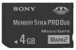 Sony Memory Stick PRO Duo 4 GB Mark 2