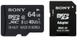 Sony Performance microSDXC 64GB CL10 + adapter