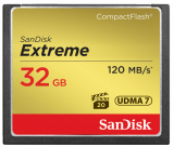 Sandisk CompactFlash EXTREME 32 GB 120 MB/s
