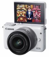 Canon EOS M10 + ob. 15-45 IS STM biały