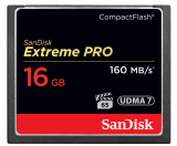 CompactFlash EXTREME PRO 16 GB 160 MB/s