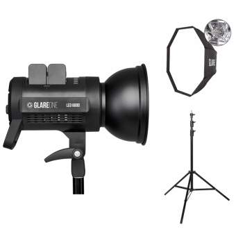 GlareOne LED 600D + softbox Easy Fold 95 + statyw Air A-275 (zestaw)
