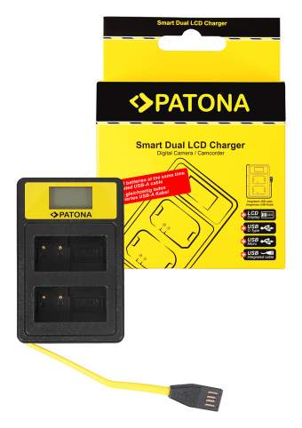 Patona USB  Smart Dual LCD do Panasonic MW-BLC12PP