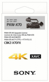 Sony Upgrade 4k do Sony PXW-X70