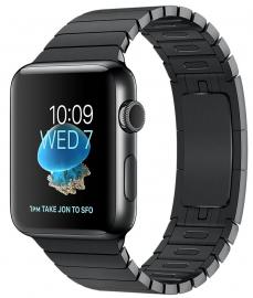 Apple Watch Series 2 38mm ze stali nierdzewnej w kolorze gwiezdnej czerni z bransoletą panelową w kolorze gwiezdnej czerni