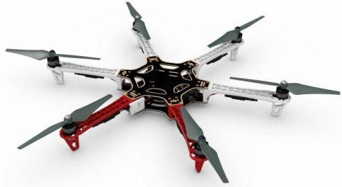 DJI Dron hexacopter F550 + E305 + Naza M v2 + GPS + DT7