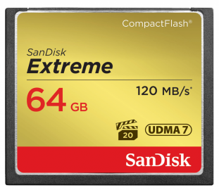 Sandisk CompactFlash EXTREME 64 GB 120 MB/s