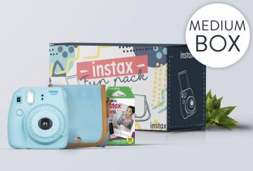 FujiFilm INSTAX MEDIUM BOX 2017 niebieski
