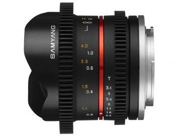 Samyang 8 mm T3.1 V-DSLR UMC Fish-eye II / Canon-M