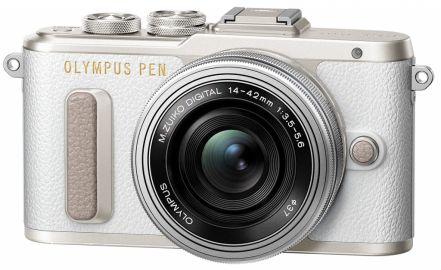 Olympus PEN E-PL8 biały + ob. 14-42 EZ srebrny