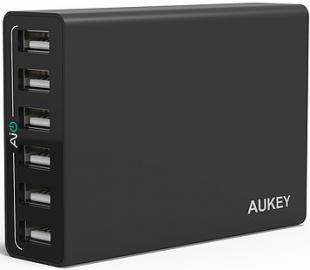 Aukey PA-U14 Black Ładowarka sieciowa 50W 10A 6xUSB AiPower