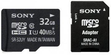 Sony Performance microSDHC 32GB UHS-I CL10 U1 40 mb/s + adapter