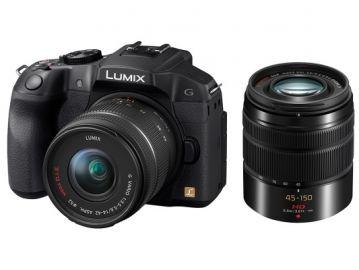 Panasonic Lumix DMC-G6W + ob. 14-42 + 45-150 MEGA O.I.S. czarny