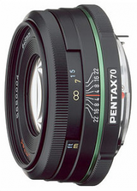 Pentax 70 mm f/2.4 DA SMC Limited