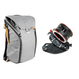 Peak Design Zestaw Plecak Everyday Backpack 20L popielaty + CaptureLENS Nikon