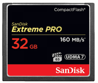 Sandisk CompactFlash EXTREME PRO 32 GB 160 MB/s