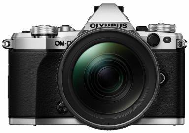 Olympus OM-D E-M5 Mark II srebrny + ob. 12-40 PRO czarny