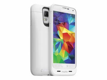 Mophie Juice Pack Galaxy S5 (kolor biały) - obudowa ochronna z wbudowaną baterią (3000 mAh)