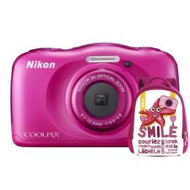 Nikon COOLPIX W100 różowy + plecak