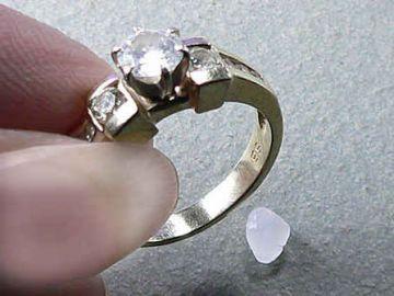MODE wosk przeźroczysty do mocowania pierścionków