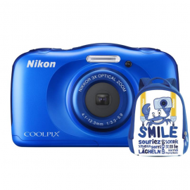 Nikon COOLPIX W100 niebieski + plecak