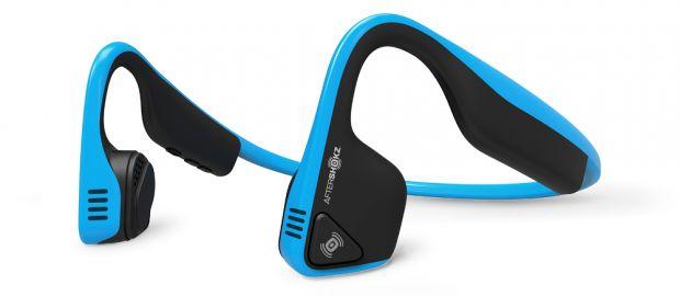 Aftershokz Słuchawki Trekz Titanium z technologią przewodnictwa kostnego niebieskie
