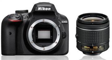 Nikon D3400 + ob. 18-55mm f/3.5-5.6G VR AF-P - Cashback 215zł