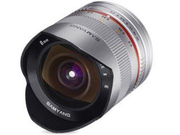 Samyang 8 mm f/2.8 UMC Fish-eye II / Canon M srebrny