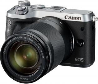 Canon EOS M6 srebrny + ob. 18-150 IS STM czarny