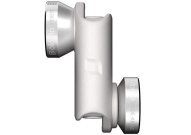 Olloclip Zestaw 4 obiektywów do iPhone 6/6 Plus srebrne soczewki biały klips