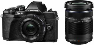 Olympus OM-D E-M10 Mark III + ob. 14-42 EZ + ob. 40-150 R czarny