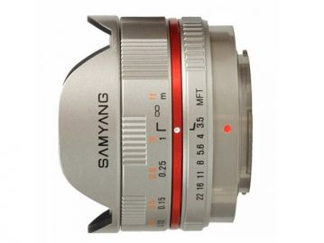 Samyang 7.5 mm f/3.5 UMC Fish-eye / micro 4/3 srebrny