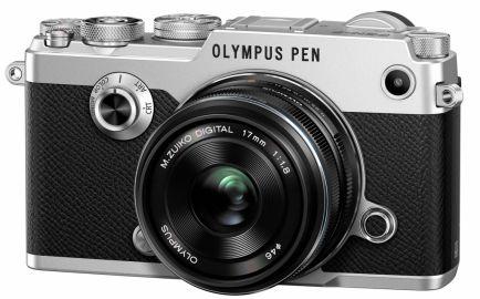 Olympus PEN-F srebrny + ob. 17 mm czarny
