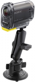 RAM Mounts Uchwyt do kamer Sony Action Cam & Sony Action Cam z Wi-Fi® montowany do szyby