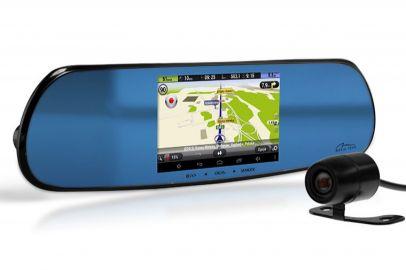 Media-Tech MT4058 (4-rdzeniowy procesor), lusterko wsteczne z nawigacją GPS na systemie Android 4.4