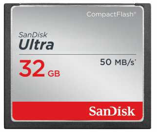 Sandisk CompactFlash ULTRA 32 GB 50MB/s
