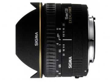 Sigma 15 mm f/2.8 DG EX rybie oko / Canon
