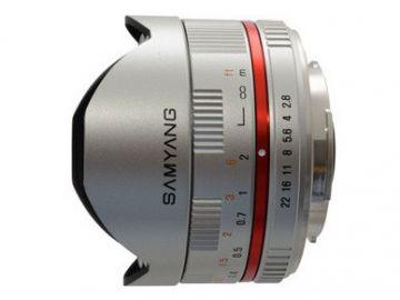 Samyang 8 mm f/2.8 UMC Fish-eye / Samsung NX srebrny
