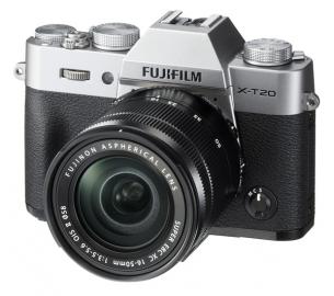 FujiFilm X-T20 srebrny + ob. 16-50 mm f/3.5-5.6 OIS II czarny