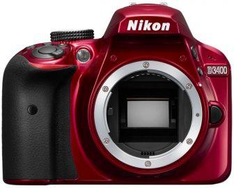 Nikon D3400 czerwony - Cashback 215zł